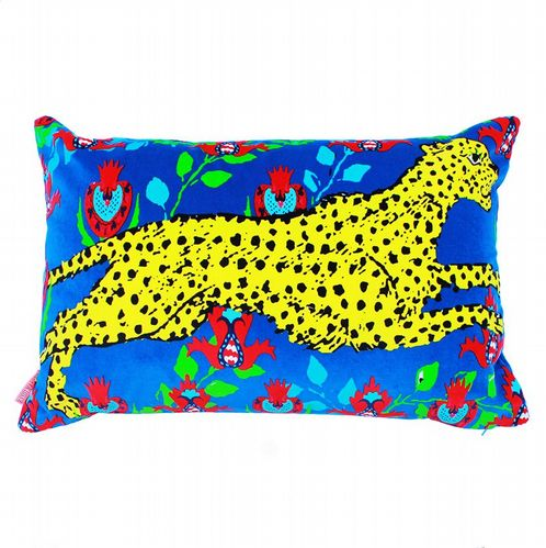 Cotton Velvet Cushion - Leopard